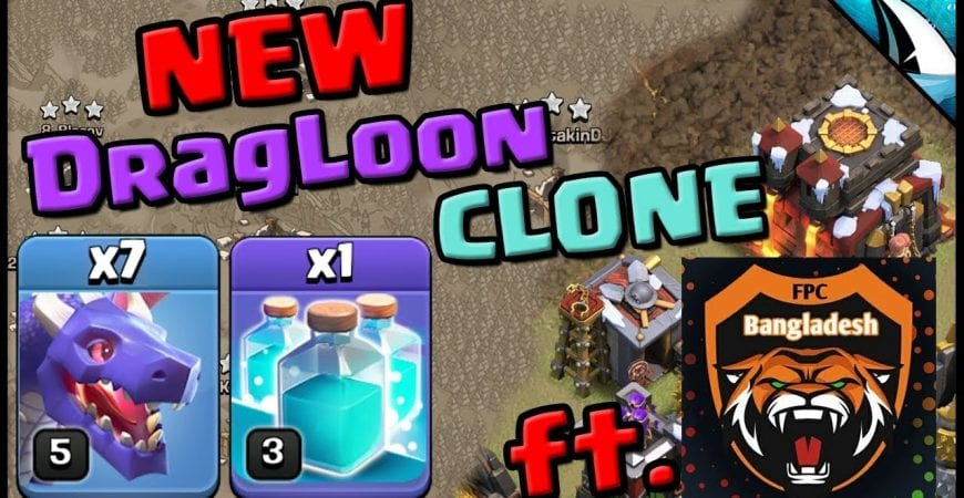 *NEW* DragLoon Clone Attack Strategy – Tripling TH10