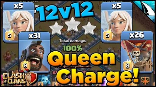 *Mastering The Queen Charge* Hogs & Balloons Th 12 | Clash of Clans @CarbonFinGaming