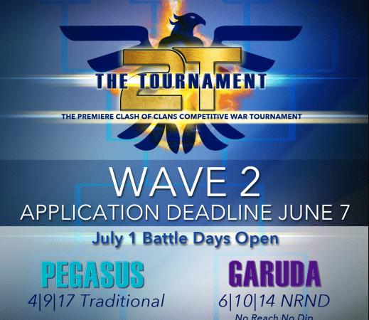 The Tournament – Wave 2 Applications Open @2tTournaments