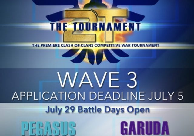 The Tournament (2t) Wave 3 Applications Open! @2tTournament