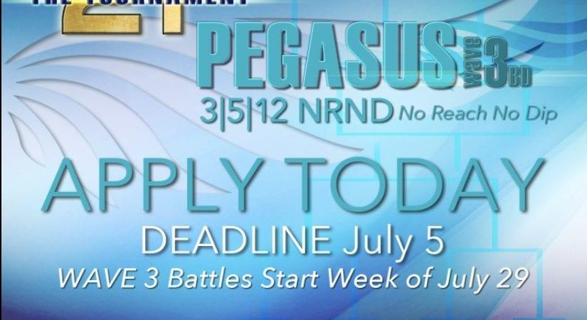 The tournament (2t) Pegasus Applications open! @2tTournament