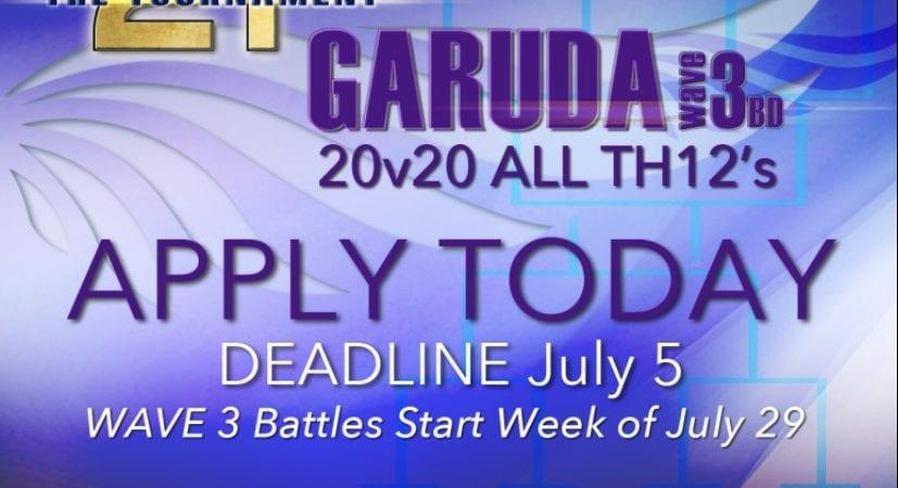 The tournament (2t)  Garuda Applications Open! @2tTournament