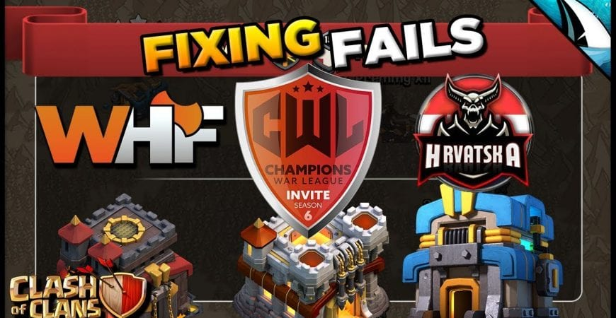 *Fixing Fails* WHF vs Hrvatska – Every Town Hall!   Clash of Clans @CarbonFinGaming