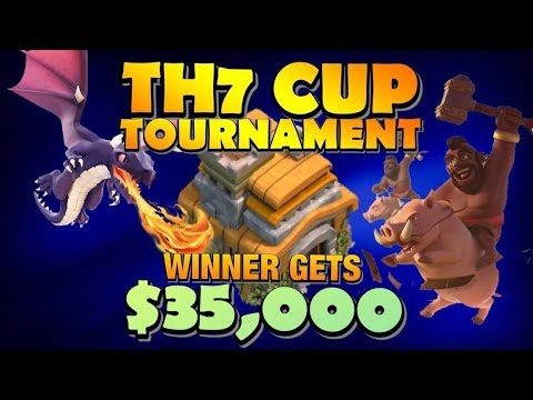 TH7 Cup Tournament LIVE STREAM! Winner Takes All $35,000! Come See The Best TH7 Attack Strategies by Clash with Eric – OneHive