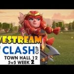 TH12 5v5 Clash Cup League Week 2 – OneHive vs GodsOfWar Livestream! by Clash with Eric – OneHive
