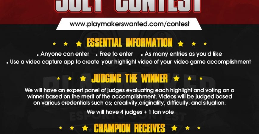 Playmakers Wanted July Contest @no_dip_league