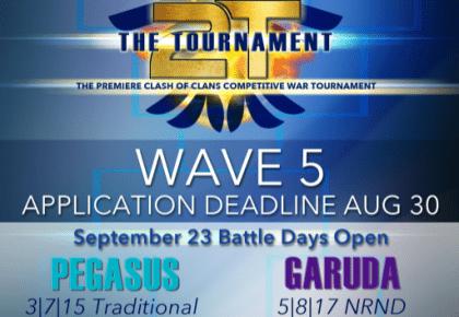 The Tournament Wave 5 Applications now open! @2tTournament
