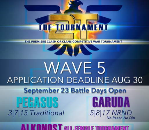 The Tournament Wave 5 Applications now open! @2tTournament