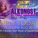 Alkonost All-Female Tournament – Apply today!! @2tTournament