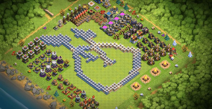 Th12 Clash of Clans Fan Shield Progress Base! | Clash Champs