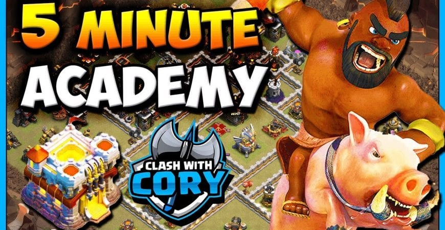 LEARN Queeen Charge Hog Attack in 5 MINUTES! Town Hall 11 Attack Strategy TH11 CLASH OF CLANS by Clash with Cory