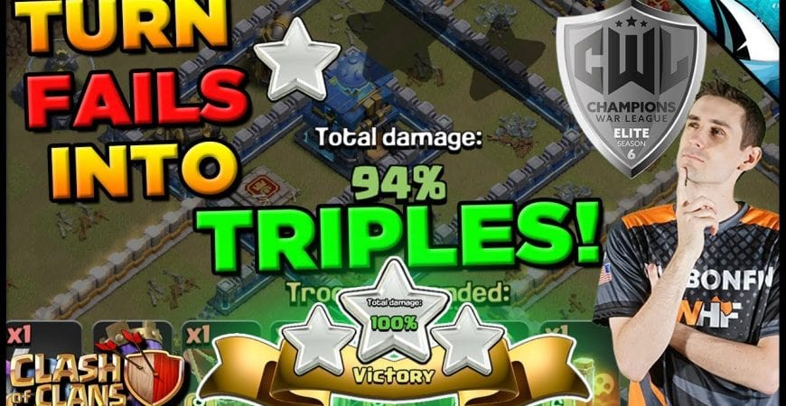 *Fix The Fail* Turn 1 Stars into 3 Stars at TH 12! | Clash of Clans by CarbonFin Gaming