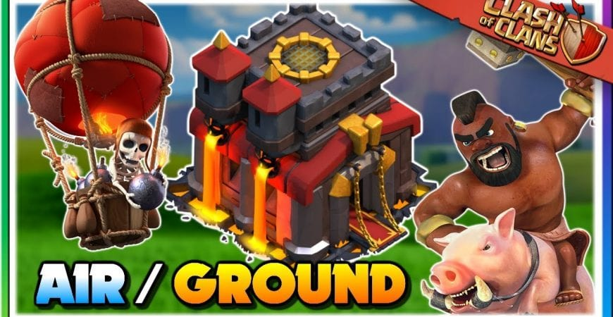 The Best of Both Worlds at TH10 – Ground and Air Attack Strategies | Clash of Clans by Judo Sloth Gaming