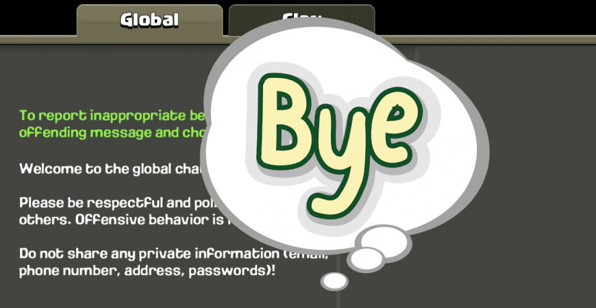 Clash of Clans removes Global Chat!
