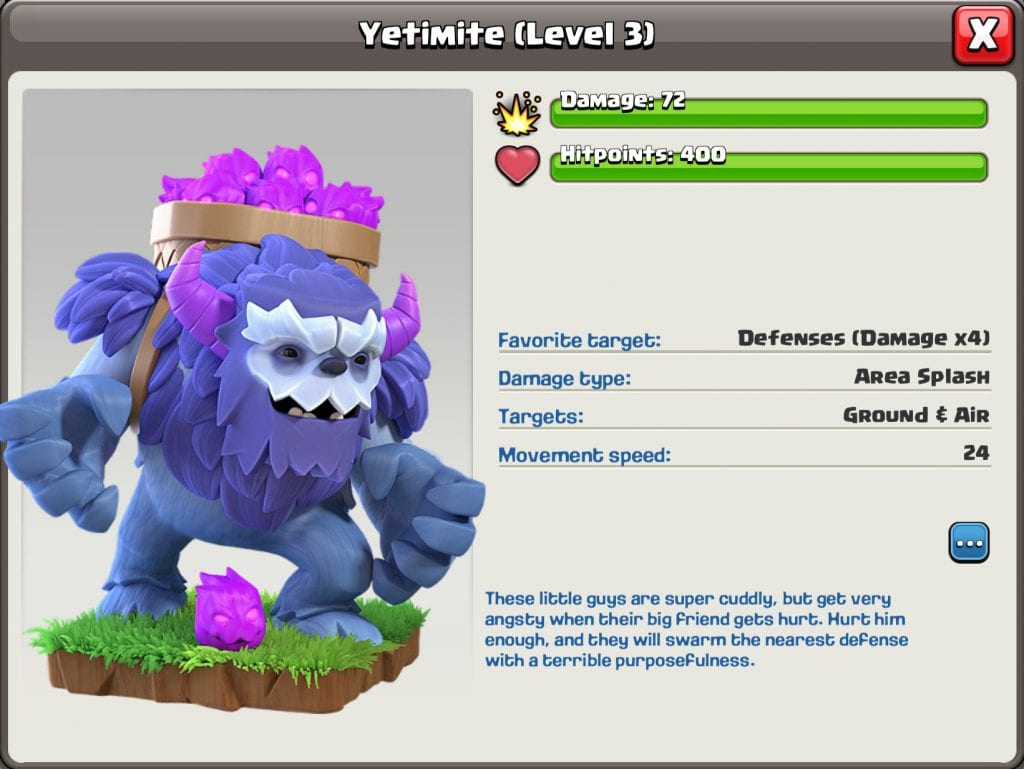 Yetimite Level 3 Info