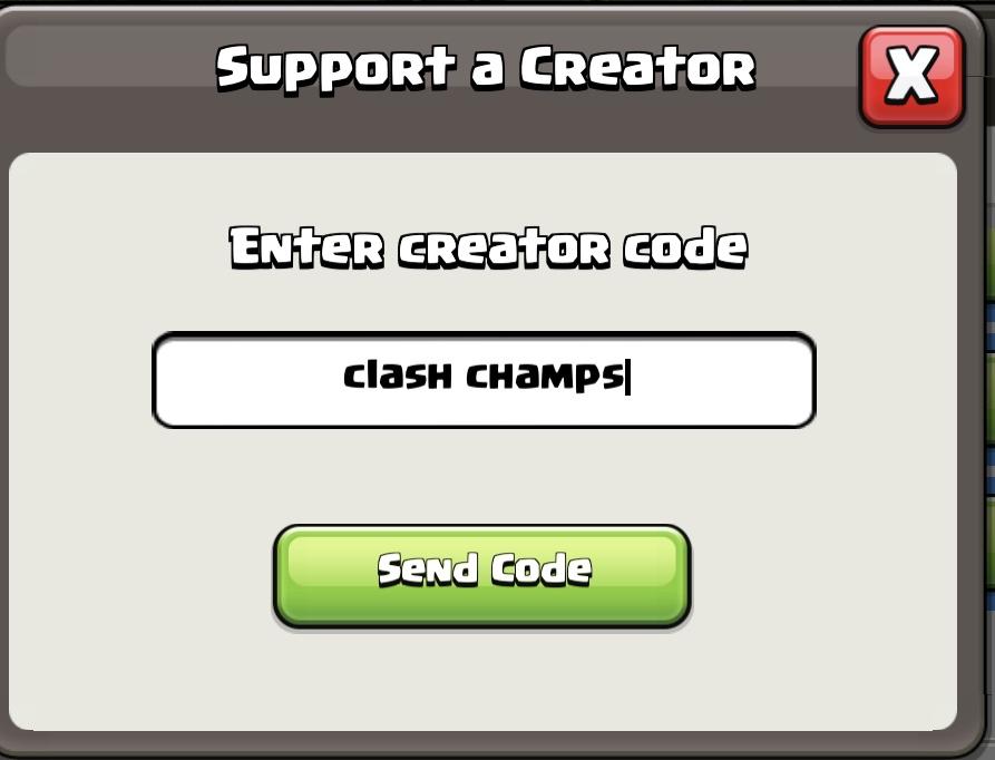 clash champs creator code