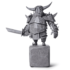 Clash of Clans Stone P.E.K.K.A Statue - Supercell Collectible