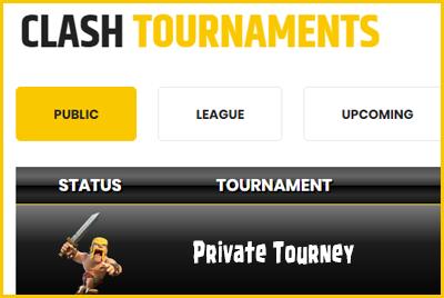 Private Tournament