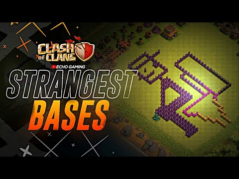 Odd Strange and Weird Base Designs Clash of Clans by ECHO Gaming