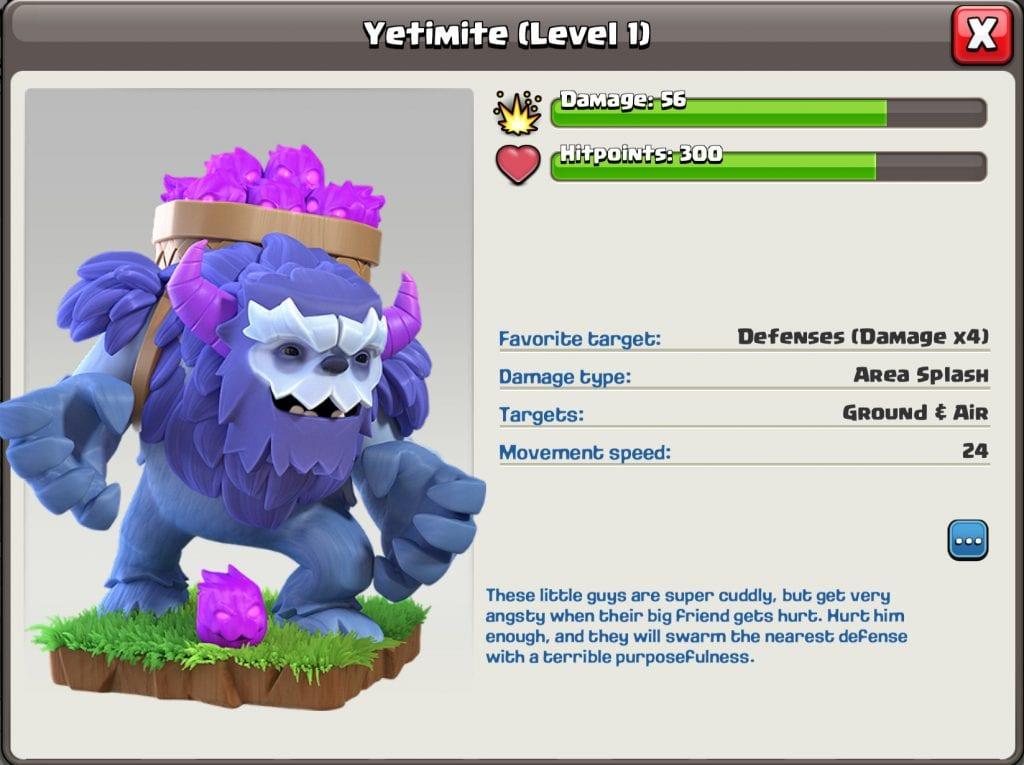 Yetimite Level 1 Info