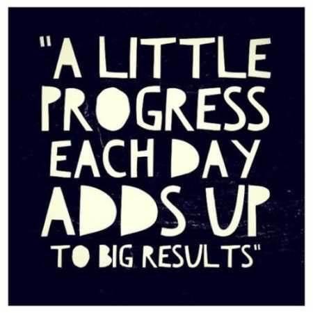 A Little progress each day adds up, a little motivation