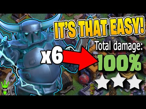 Can you LITERALLY just Drop 6 SUPER PEKKAS and WIN?! – Clash of Clans by Clash Bashing!!