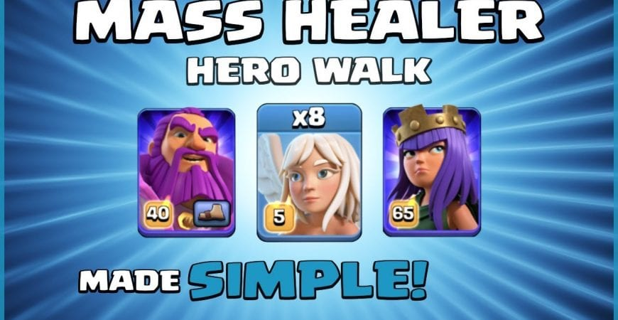 *HEAL ME!* Best New TH12 Attack Strategy 2019 – MASS HEALER HERO WALK! – Clash of Clans by Sir Moose Gaming