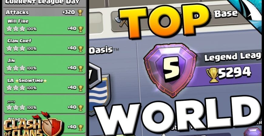 Perfect Legend League +320 TROPHIES! #5 In The World! | Clash of Clans by CarbonFin Gaming