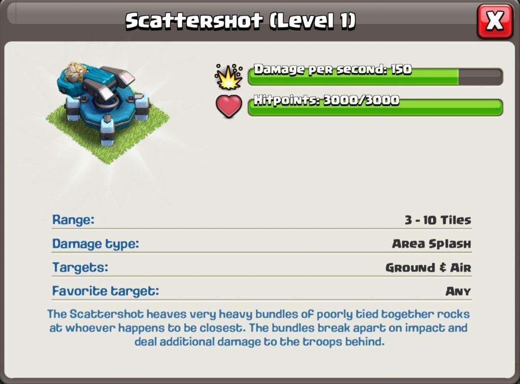 Level 1 Scattershot info