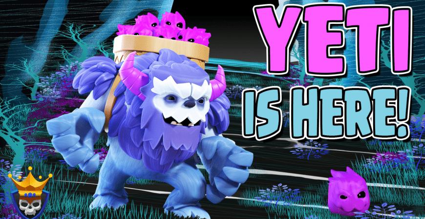 Clash of Clans Update Sneak Peek! New Troop – The Yeti is here!