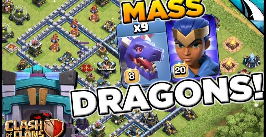 Town Hall 13 Level 8 Mass Dragon Meta! Such a strong attack! | Clash of Clans by CarbonFin Gaming