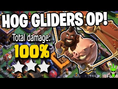 HOG GLIDERS ARE OP IF YOU GET THE TIMING RIGHT! – Clash of Clans by Clash Bashing!!
