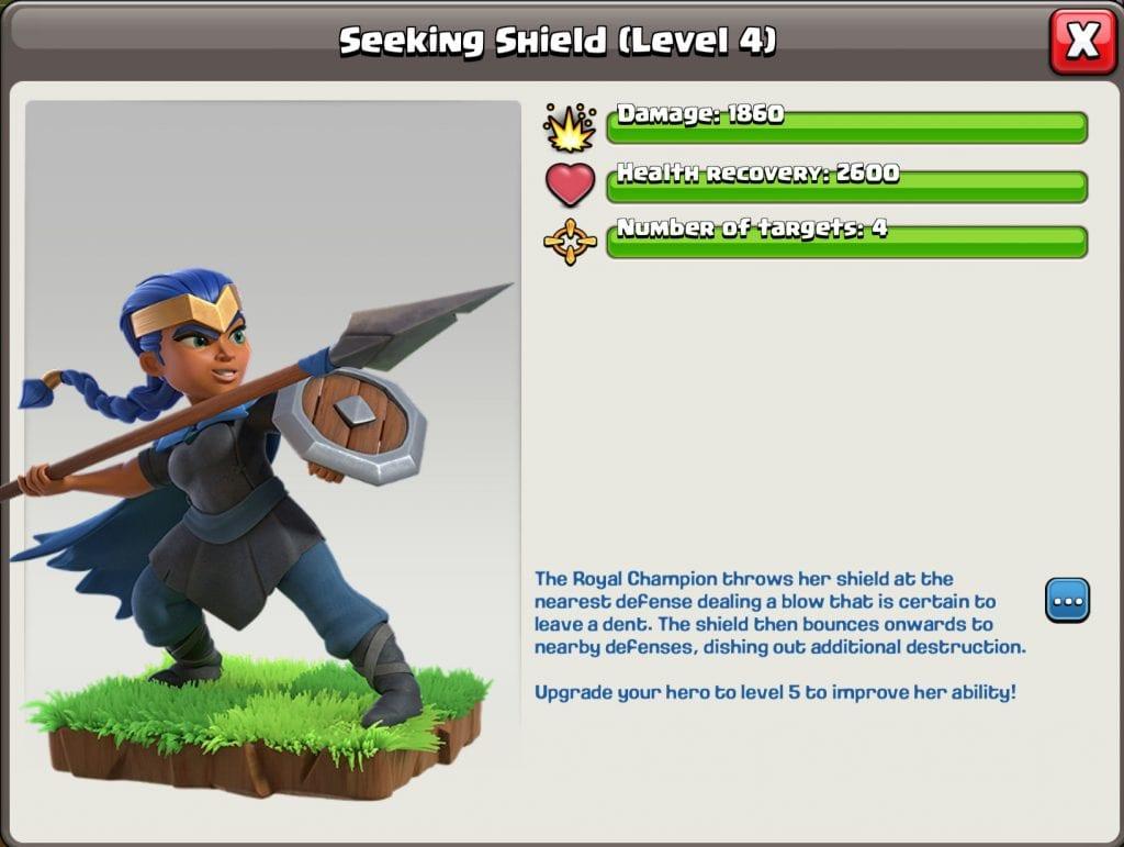 Royal Champion Seeking shield