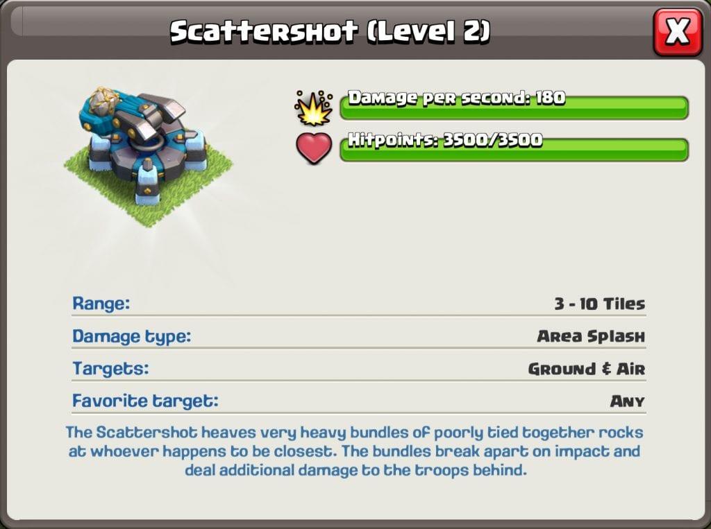 Level 2 Scattershot info