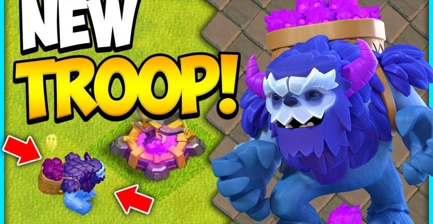 The New Yeti in Action at Town Hall 13 in Clash of Clans Update Hype by Clash Attacks with Jo
