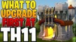 WHAT TO UPGRADE FIRST AS A FREE TO PLAY TOWN HALL 11 – Clash of Clans by Clash Bashing!!