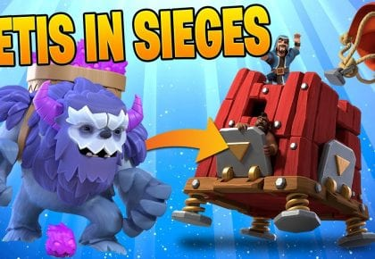 YETIS IN SIEGE MACHINES ARE SICK! – Clash of Clans by Clash Bashing!!