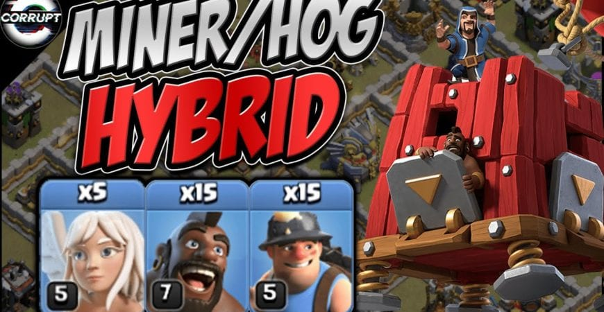 TH11 Miner Hog Hybrid Smashes EVERYTHING! | Miner Hog Hybrid Explained | Clash of Clans by CorruptYT
