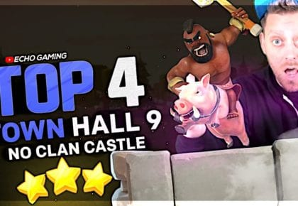 BEST Town Hall 9 Attacks with NO Clan Castle by ECHO Gaming