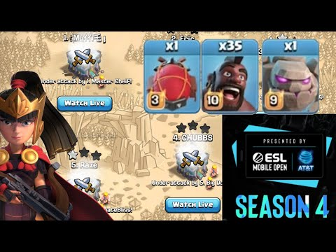 TH13 BLIMP GOLEM MASS HOGS –  Best TH13 Attacks by Clash with Eric – OneHive