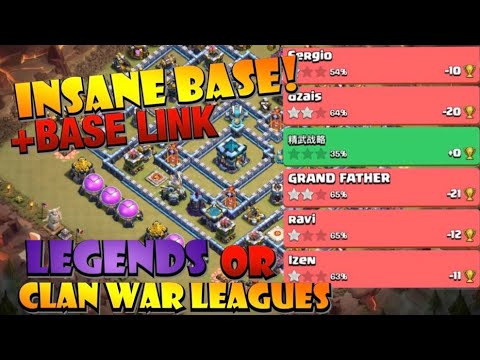 INSANE CWL TH13 BASE with Base Link! TH13 Clan War League Base or TH13 Legend League Base! by Clash with Eric – OneHive