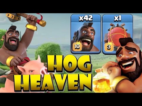 HOG HEAVEN!! TH13 Mass Hogs with BLIMP – Pushing back to Legends League – Clash of Clans by Clash with Eric – OneHive