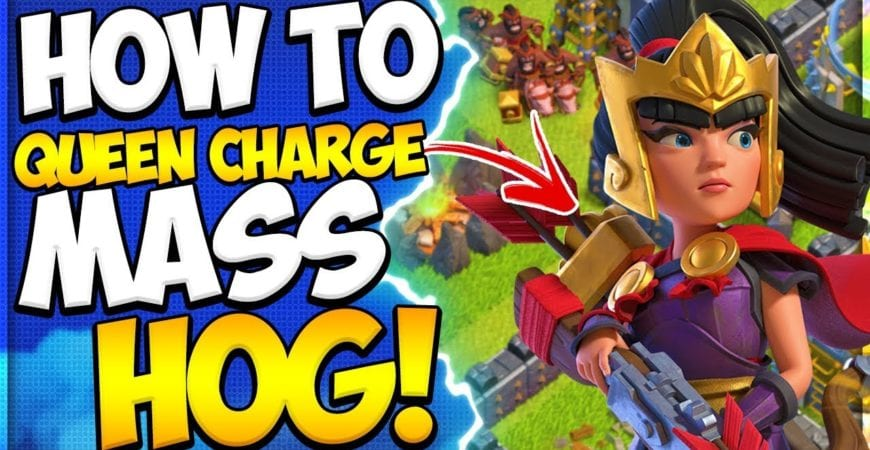 How to Queen Charge Mass Hog at TH9 | Best TH9 Attack Strategies in Clash of Clans by Clash Attacks with Jo