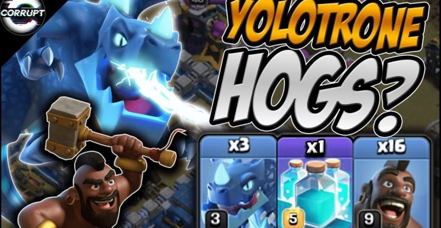 TH12 EDrag Hogs + Queen Walk | TH12 Yolotrone Hogs Explained | Clash of Clans by CorruptYT