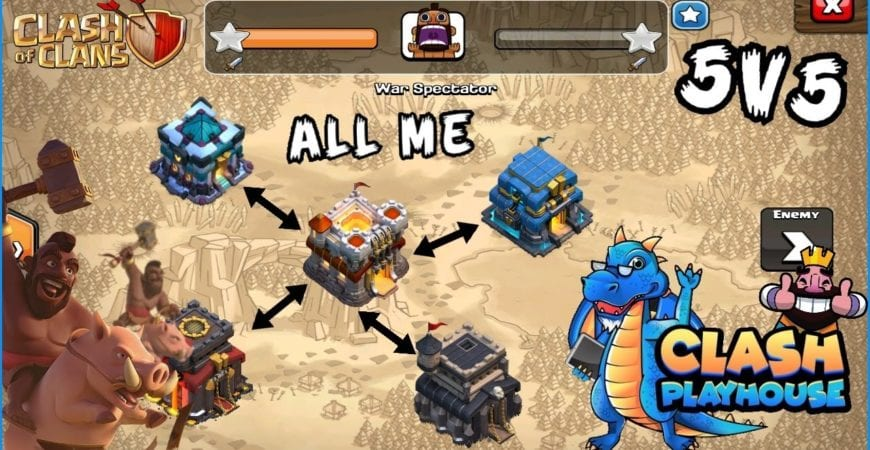 5 of my accounts vs a random clan 13,12,11,10,9 | Clash of Clans by Clash Playhouse