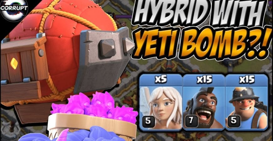 Miner Hog Hybrid + Yeti Bomb is Crazy Strong | Works at TH11, TH12, & TH13 | Clash of Clans by CorruptYT