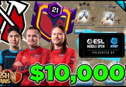 Giant War with Tribe Gaming vir $ 10,000! ESL Mobile Ope Seisoen 4 Finale | Clash of Clans deur CarbonFin Gaming
