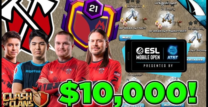 Giant War with Tribe Gaming for $10,000! ESL Mobile Open Season 4 Finals | Clash of Clans by CarbonFin Gaming