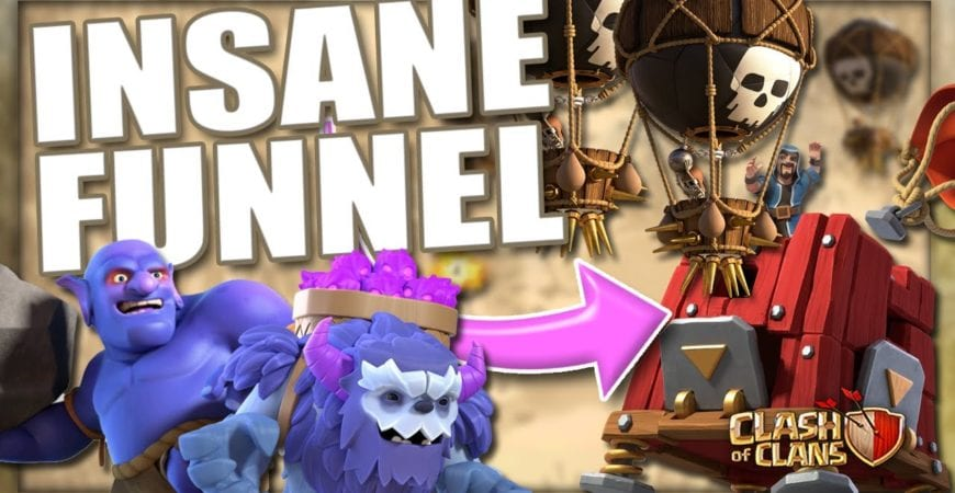 Insane SIEGE LOON Funnel | TH13 Yeti Smash with Great Funnel Value by LadyB