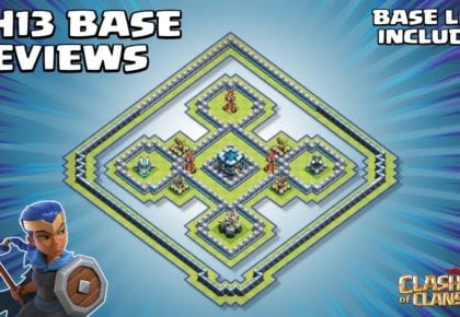 * MYSTICAL * New Town Hall 13 (TH13) Base Review - مع TH13 BASE Link - Clash of Clans بواسطة Sir Moose Gaming